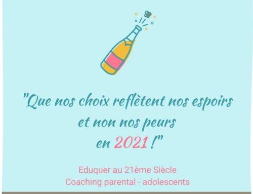 Que nos choix reflètent nos espoirs et non nos peurs en 2021 !